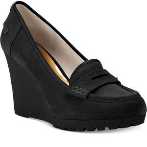 Michael Kors Rory Loafer Wedge Pumps